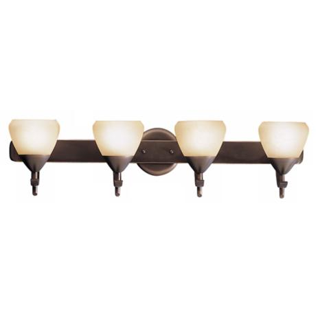 "Olympia Bronze 27"" Wide Bathroom Light Fixture"