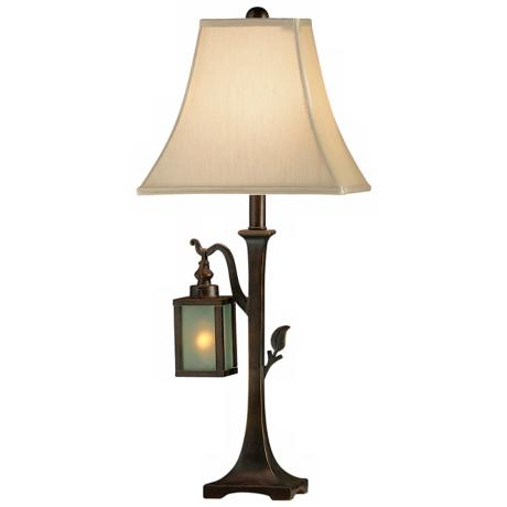 Woodlands Table Lamp with Illuminated Lantern