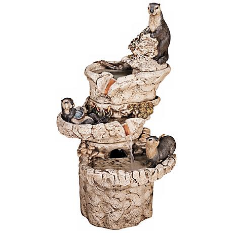 Henri Studio Hi-Tone Sea Otter 3-Tier Fountain