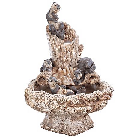 Henri Studio Hi-Tone Sea Otter Playground Fountain
