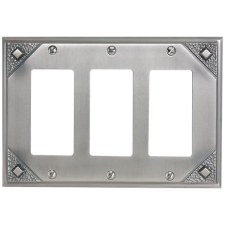 Craftsman Collection Pewter Triple Rocker Wall Plate