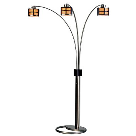 Nova Ventana Three Light Arc Floor Lamp