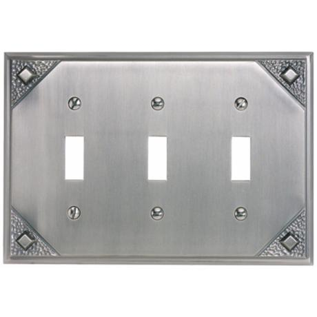 Craftsman Triple Toggle Pewter Finish Wall Plate