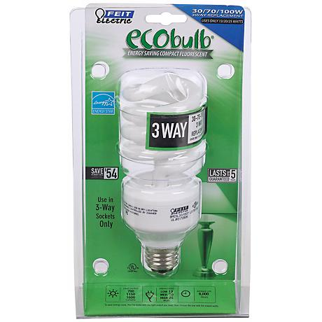 3-Way Energy Saving CFL ENERGY STAR Eco Light Bulb