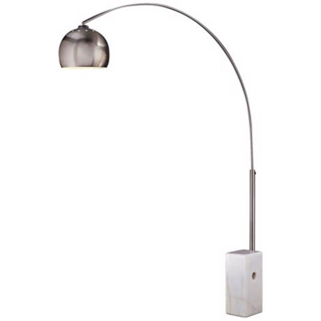 George Kovacs Brushed Stainless Steel  Arc Floor Lamp