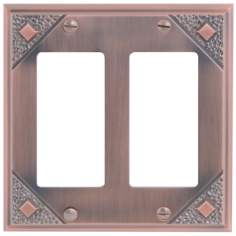 Craftsman Collection Copper Double Rocker Wall Plate