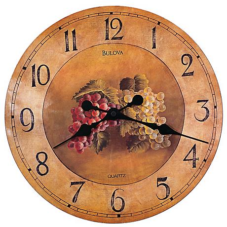 "Bulova Whittingham Decorative 18"" Wide Wall Clock"