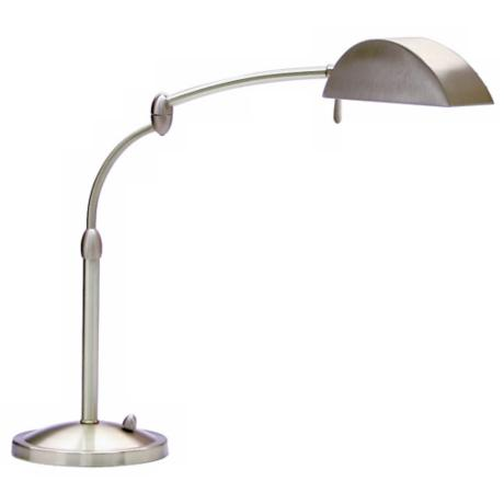 Satin Nickel Swing Arm Pharmacy Desk Lamp