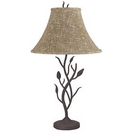 wrought iron tree table lamp. Black Bedroom Furniture Sets. Home Design Ideas