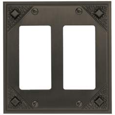 Craftsman Collection Aged Bronze Double Rocker Wall Plate
