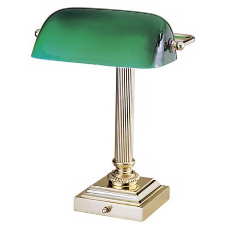 Hightower Polished Brass Desk Lamp