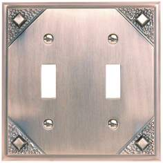 Craftsman Collection Copper Double Toggle Wall Plate