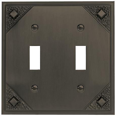 Craftsman Collection Aged Bronze Double Toggle Wall Plate
