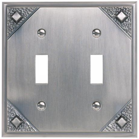 Craftsman Double Toggle Pewter Finish Wall Plate