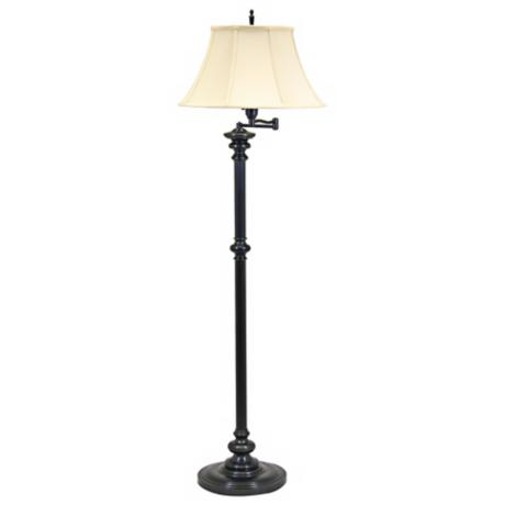 House of Troy Newport Bronze Swing Arm Floor Lamp