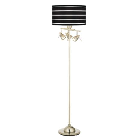 Bold Black Stripe Giclee 4 Light Floor Lamp