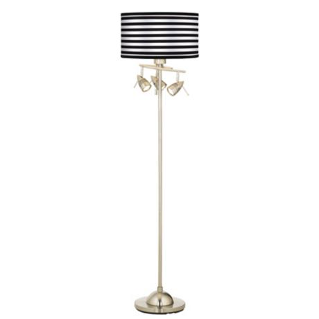 Black Horizontal Stripe Giclee 4 Light Floor Lamp