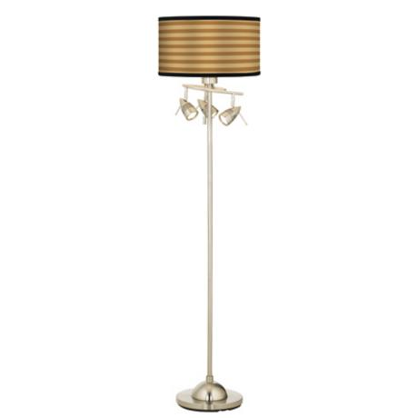 Butterscotch Parallels Giclee 4 Light Floor Lamp