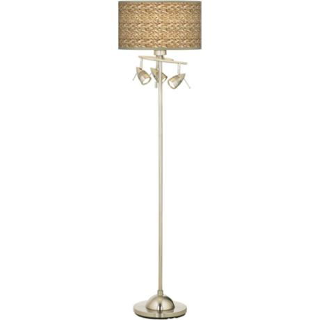 Seagrass Giclee 4 Light Floor Lamp
