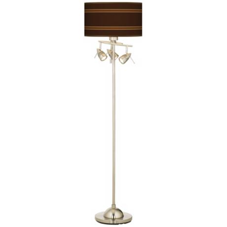 Saratoga Stripe Giclee 4 Light Floor Lamp