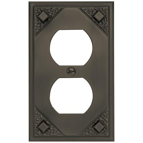 Craftsman Collection Aged Bronze Double Outlet Wall Plate