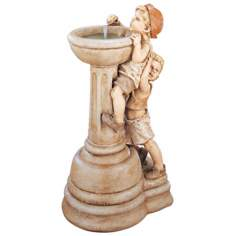 Henri Studios Willie and Wilma Outdoor Fountain