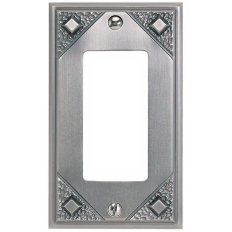 Craftsman Single Rocker Pewter Finish Wall Plate