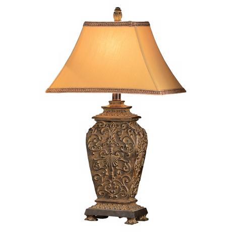 Blackburn Ornate Carved Table Lamp