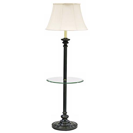 House of Troy Newport Glass Tray Floor Lamp Bronze