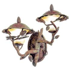 "Ponderosa Collection 19"" High Two Lamp Outdoor Wall Light"