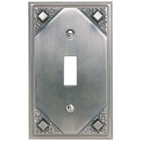 Craftsman Single Toggle Pewter Finish Wall Plate
