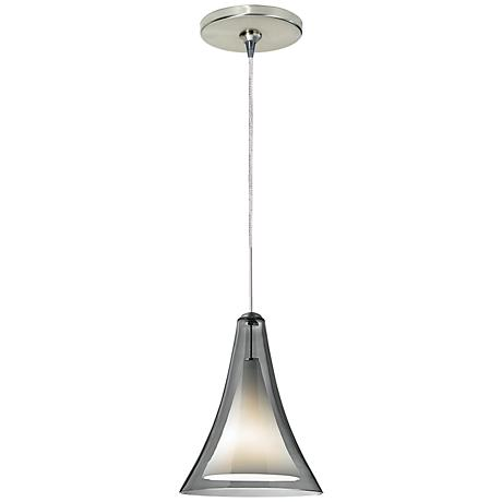 "Melrose II 7 1/2""W Satin Nickel Freejack Mini Pendant"