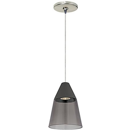 "Tech Lighting Masque 6 1/4"" Wide Satin Nickel Mini Pendant"