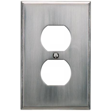 Sutton Brushed Nickel Finish Outlet Wall Plate