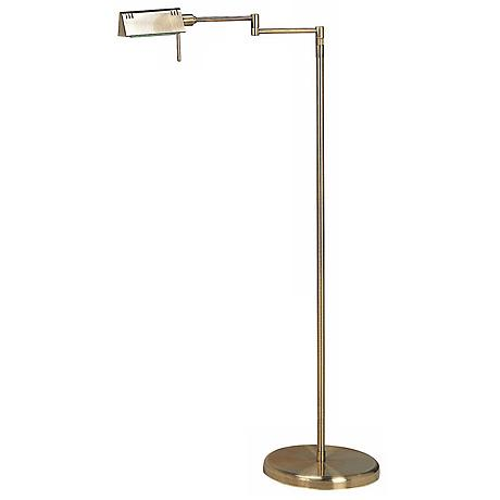 Lite Source Pharma Collection Brass Adjustable Floor Lamp