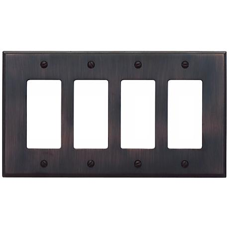Sutton Venetian Bronze Finish Quad Rocker Wall Plate