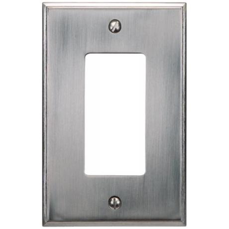 Sutton Brushed Nickel Finish Single Rocker Wall Plate