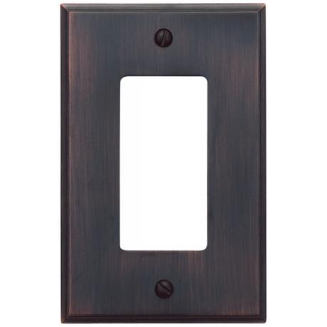 Sutton Venetian Bronze Finish Single Rocker Wall Plate