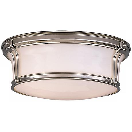 "Newport 13"" Wide Polished Nickel Ceiling Light"