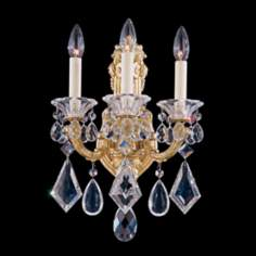 Schonbek La Scala Collection 3-Light Crystal Wall Sconce