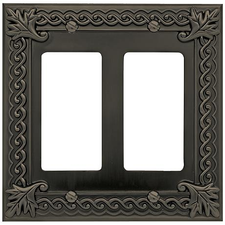 Venetian Collection Aged Bronze Double Rocker Wall Plate