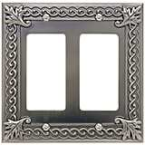 Venetian Collection Pewter Double Rocker Wall Plate