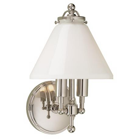 "Lenox 11.5"" High Polished Nickel Wall Sconce"