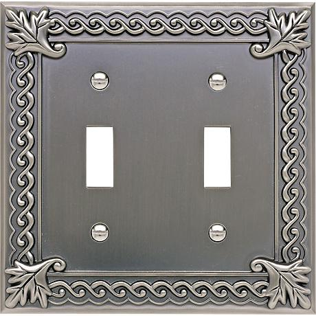 Venetian Collection Pewter Double Toggle Wall Plate