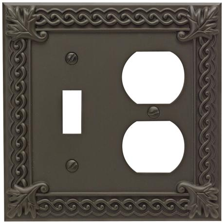 Venetian Collection Aged Bronze Combo Outlet Wall Plate