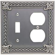 Venetian Collection Pewter Combo Outlet Wall Plate