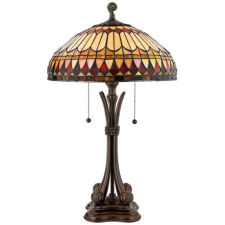 Western Place Tiffany-Style Table Lamp