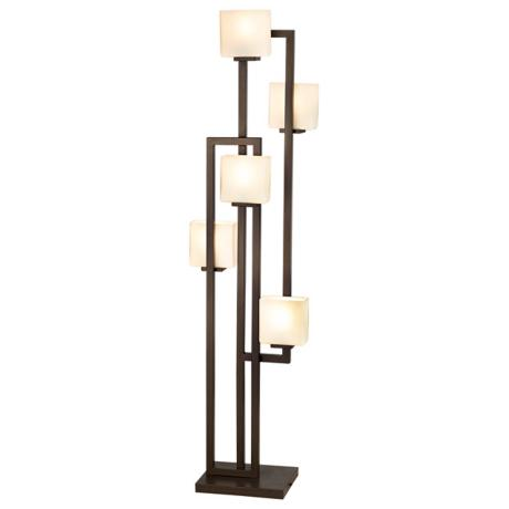 Possini Euro Lighting on the Square 5-Light Floor Lamp