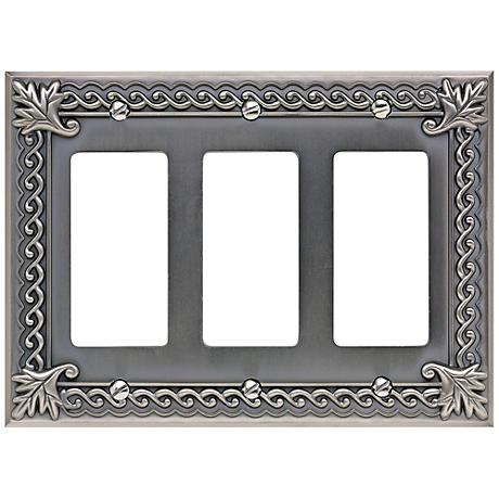 Venetian Collection Pewter Triple Rocker Wall Plate