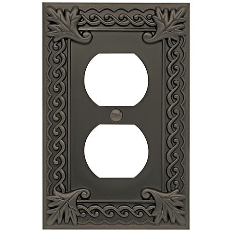 Venetian Collection Aged Bronze Double Outlet Wall Plate